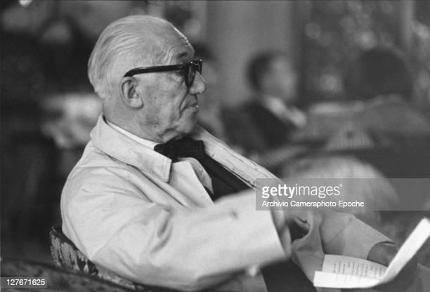 French architect Le Corbusier Venice 1965