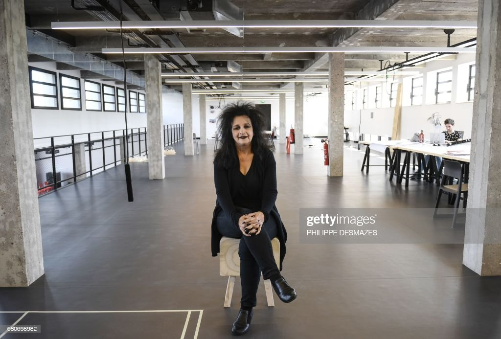 French Architect french architect odile decq poses at the confluence institute for