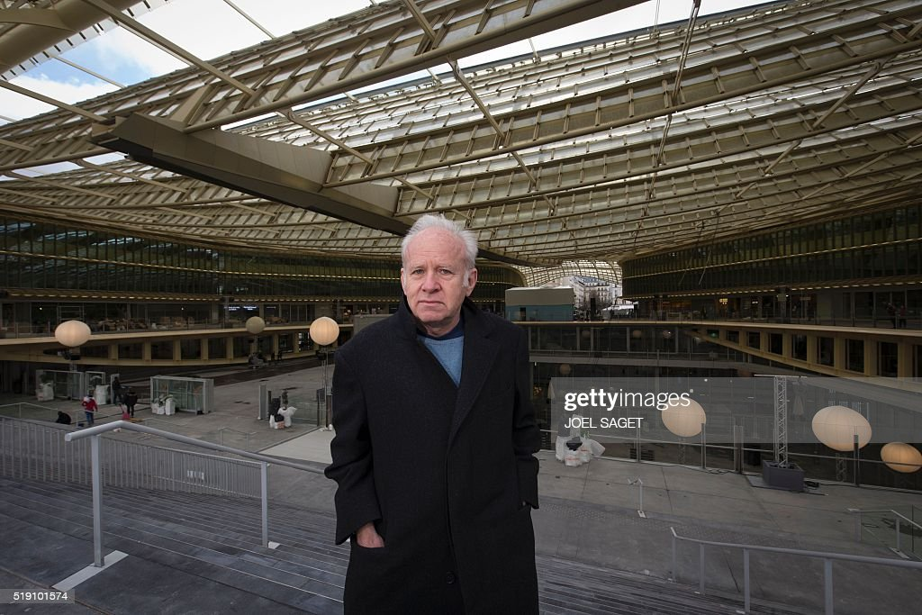 French Architect french architect patrick berger poses under 'la canopee' (the