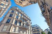 Buildings in central Paris, France.