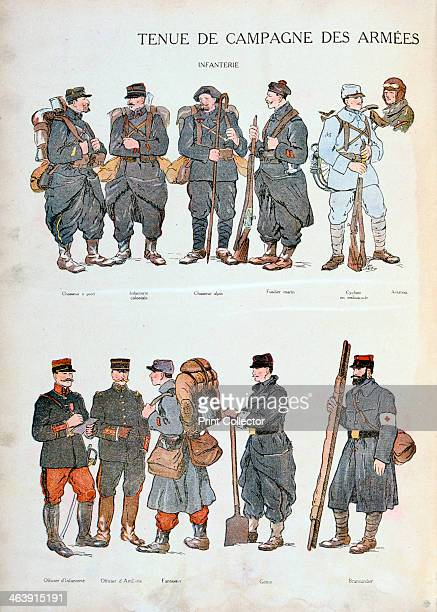 French army uniforms World War One 1914 Uniforms of the French infantry at the start of the war