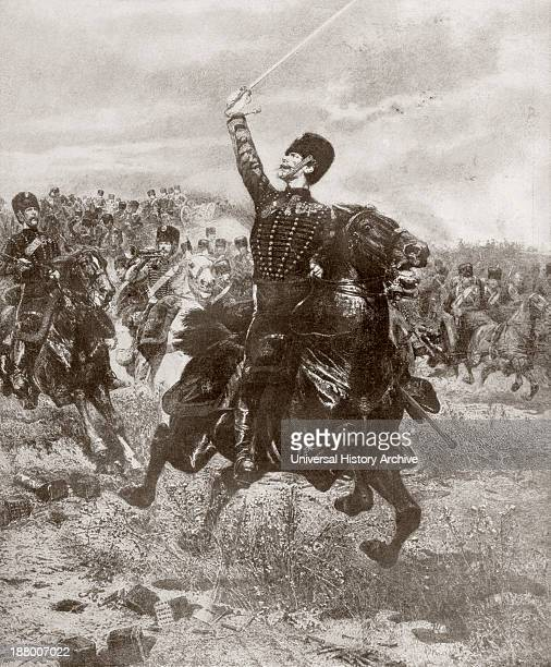 French Artillery Men Charging Towards Enemy Positions During The FrancoPrussian War Of 1870 After A Painting By Jean Baptiste Edouard Detaille From...