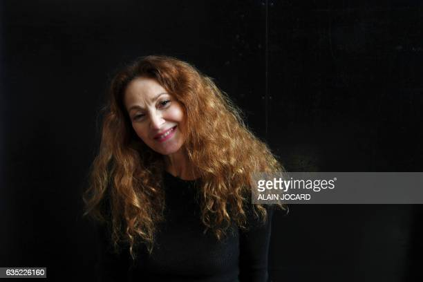 French artist Anilore Banon poses during a photo session in her workshop on February 2017 in Paris French artist Anilore Banon made a sculpture...