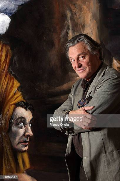 French artist Gerard Garouste poses during the Gerard Garouste opening exhibition at the French Academy located in the Villa Medici on October 13...