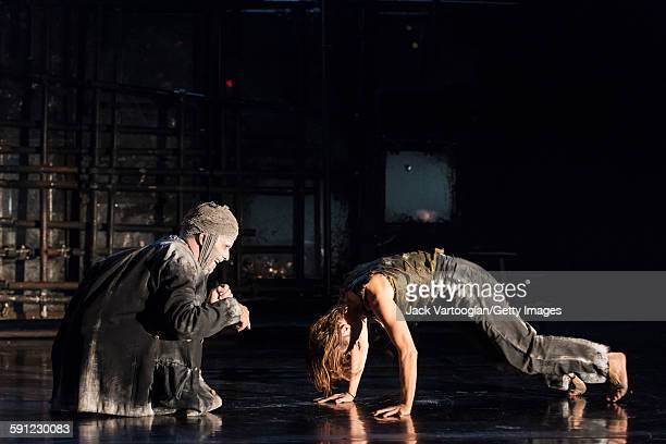 French artist James Thierree and a fellow member of La Compagnie du Hanneton perform in the final dress rehearsal of 'Tabac Rouge' during the Next...