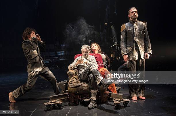 French artist James Thierree and fellow members of La Compagnie du Hanneton perform in the final dress rehearsal of 'Tabac Rouge' during the Next...