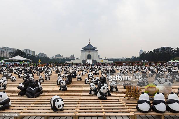 French artist Paulo Grangeon created 1600 papier mache pandas and 200 Formosan Black Bears for the Taipei leg of World Wildlife Fund's Pandas on Tour...
