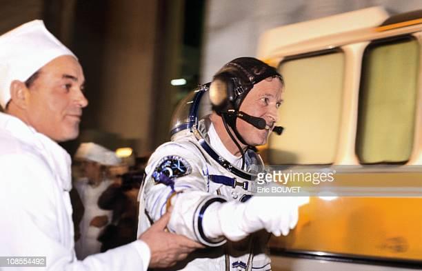 French astronaut Jean Loup Chretien in Baikonur Kazakhstan on November 26th 1988