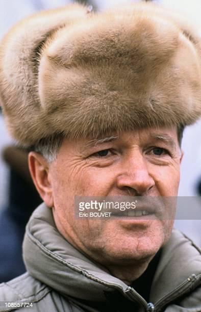 French astronaut JeanLoup Chretien in Kazakhstan on November 26th 1988