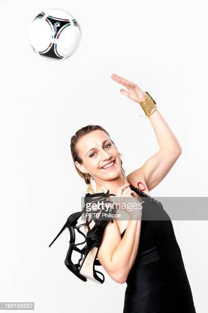 French Athletes On The Eve Of The Olympic Games In London 2012 Sandrine Soubeyrand A la veille de l'ouverture des Jeux Olympiques de Londres 2012 les...