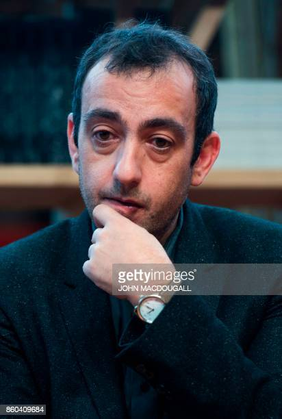 French author and Goncourt laureate Jerome Ferrari takes part in a Goncourtrelated event at the Frankfurt Book Fair 2017 in Frankfurt am Main central...