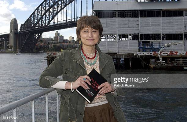 French author Catherine Millet with her controversial book 'The Sexual Life of Catherine Millet' during the Sydney Writers Festival 2003