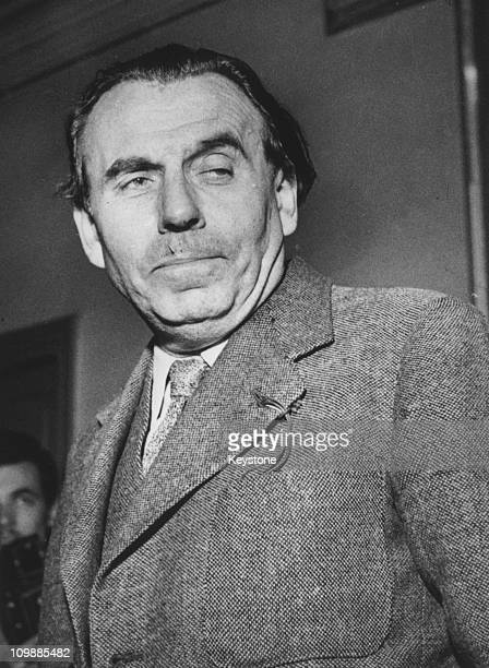 French author LouisFerdinand Celine at a court in Paris having been granted amnesty by a war crimes tribunal 13th October 1951 He is suing editor M...