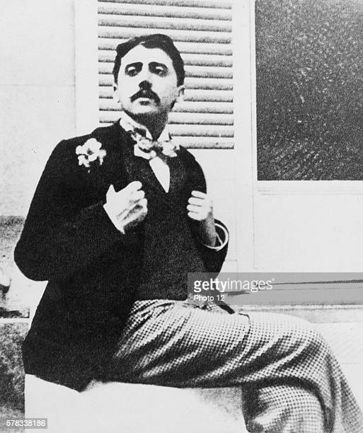 French author Marcel Proust in the garden of French music composer Reynaldo Hahn Photograph taken in 1905