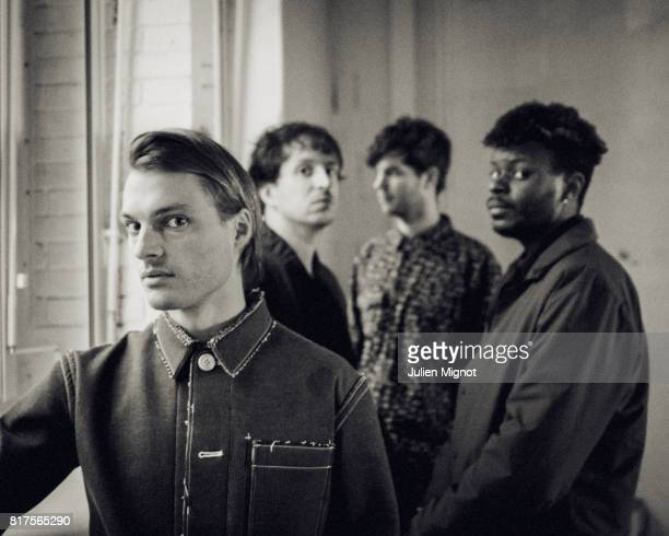 French band Francois The Atlas Mountains is photographed for Grazia Magazine on February 11 2017 in Nantes France