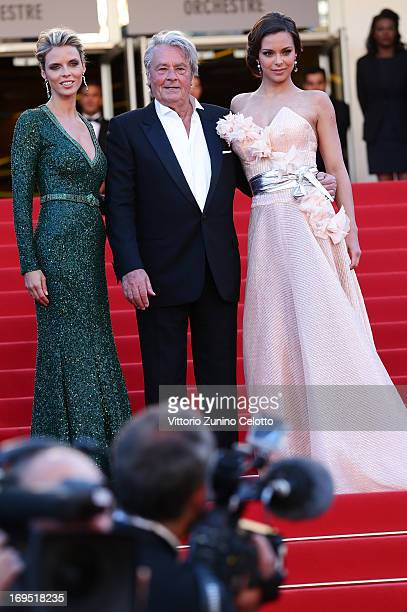 French beauty pageants Sylvie Tellier French actor Alain Delon and Marine Lorphelin attend the 'Zulu' Premiere and Closing Ceremony during the 66th...