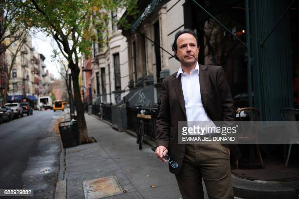 French best selling author Marc Levy makes poses during a photo session New York's West Village the neighborhood where he lives November 24 2009 Marc...