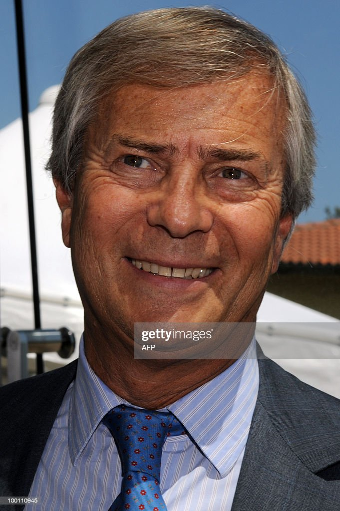 French billionaire Vincent Bollore speaks in an interview during the 80th anniversary celebrations of Italian car maker Pininfarina group in Cambiano near Turin on May 21, 2010.