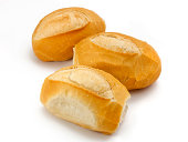 diverse french breads in group