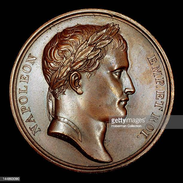 French Bronze Medallion with Bust of Napoleon
