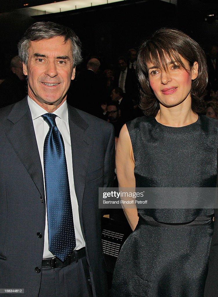 French Budget Minister Jerome Cahuzac (L) and Laura Vernier attend the Arop Gala event for Carmen new production launch at Opera Bastille on December 13, 2012 in Paris, France.