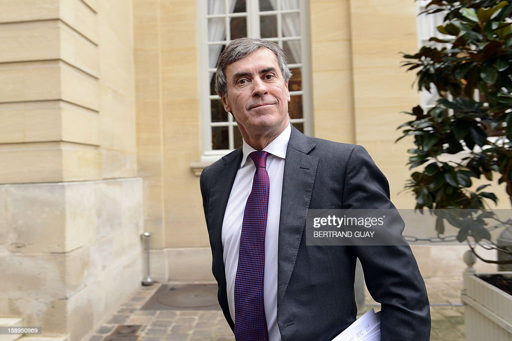 French Budget minister Jerome Cahuzac arrives to take part in a government seminar focusing on the government's agenda for the coming year on January 4, 2013 at the Hotel Matignon in Paris.