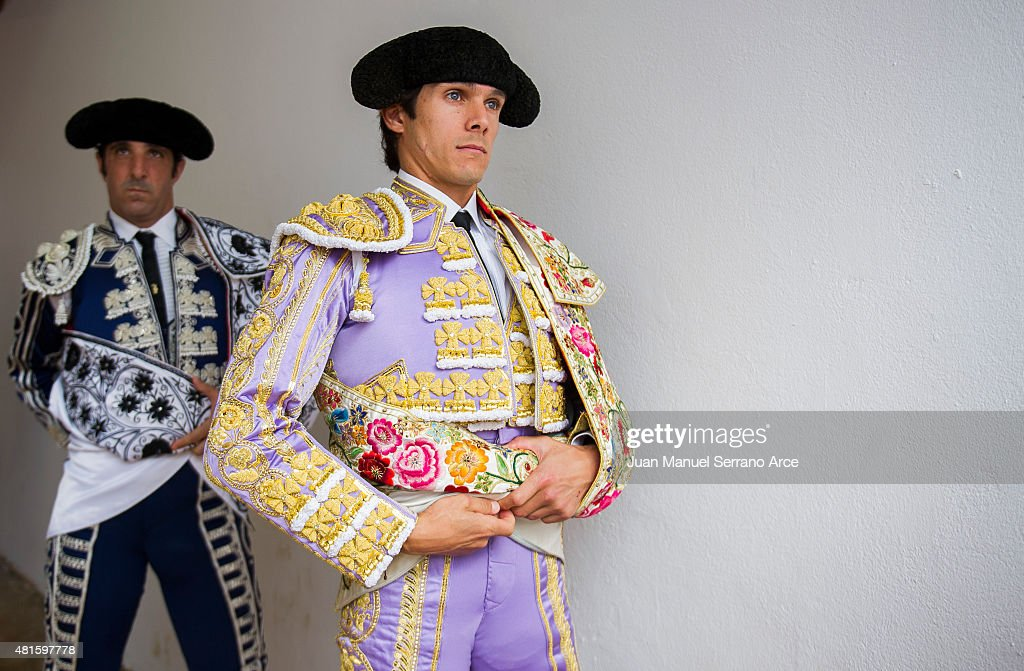 French bullfighter Sebastian Castella looks on before a bullfight as part of the Feria Santiago in a bullfight on July 22, 2015 in Santander, Spain.