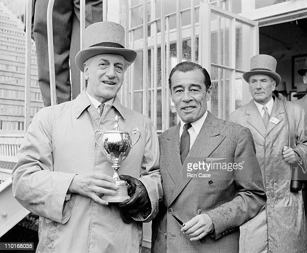 French businessman and racehorse owner Pierre Wertheimer with jockey Rae Johnstone after Johnstone rode Wertheimer's horse Lavandin to victory in the...