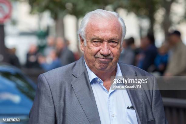French businessman Marcel Campion attends Mireille Darc's Funeral at Eglise Saint Sulpice on September 1 2017 in Paris France French actress died...