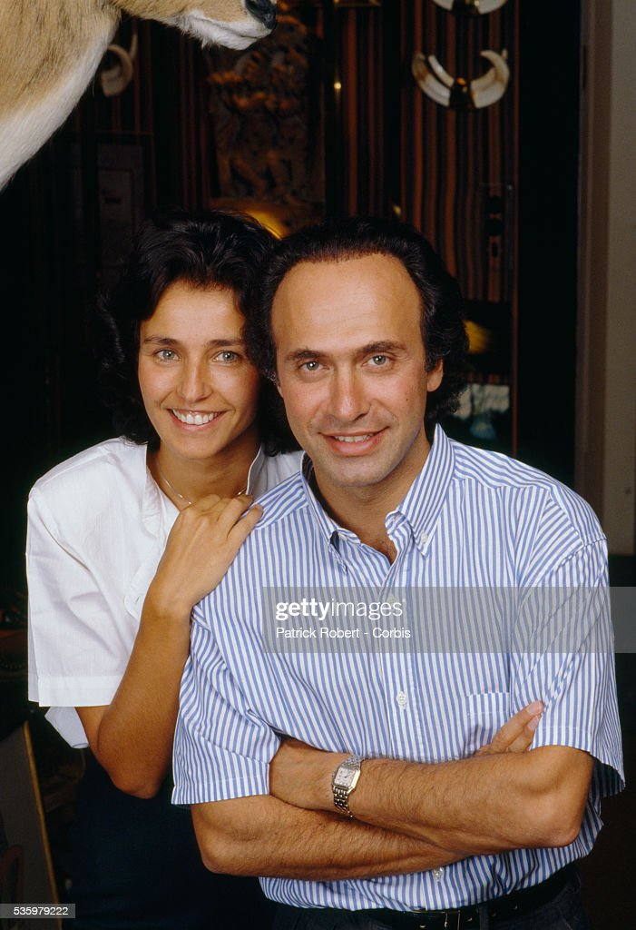 French businessman, politician, and composer Olivier Dassault at home with his wife Carole. Dassault, who owns Dassault Falcon Service, is the grandson of Marcel Dassault, the legendary aviation engineer and manufacturer.