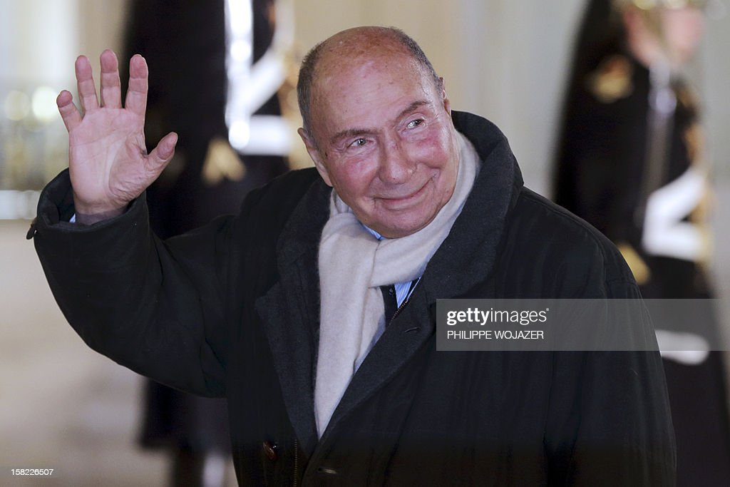 French businessman Serge Dassault arrives at the Elysee Palace in Paris, on December 11, 2012, to attend a state dinner given in honour of Brazil's President. Brazilian President Dilma Roussef is on a two-day visit to France.
