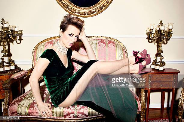 French Canadian actress Karine Vanasse is photographed for Icon Magazine on November 13 2013 in Beverly Hills California