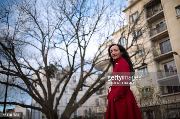 French candidate of the Mars One settlement project Florence Porcel poses on January 7 2014 in Boulogne Billancourt a Paris suburb Porcel is among...