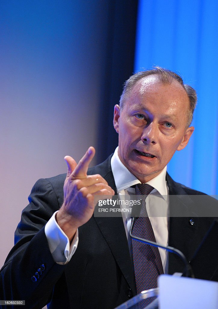 French carmaker Renault Chief Competitive Officer Thierry Bollore attends a conference organised by the Plateforme de la Filiere Automobile (PFA) (automobile sector platform), in Paris on October 2, 2013.