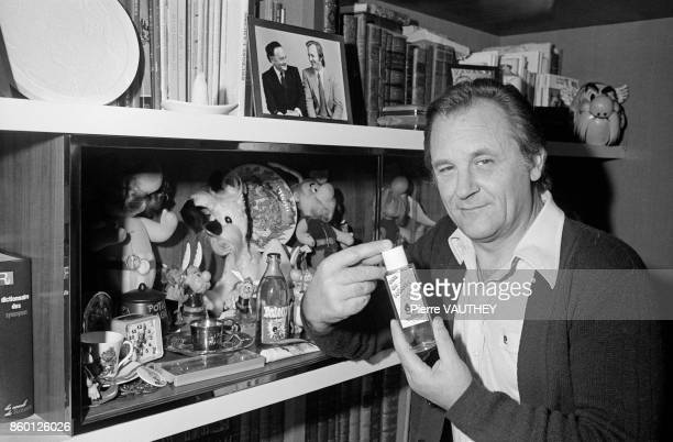 French Cartoonist Albert Uderzo at home 18th August 1979