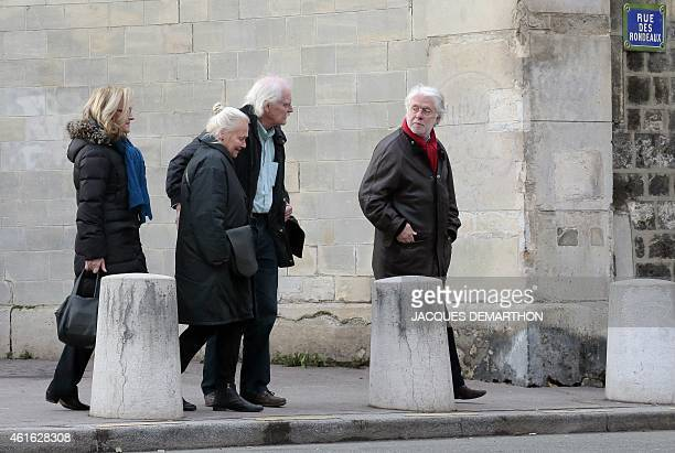 French cartoonist Willem leaves the Pere Lachaise cemetery before the funeral ceremony of Charlie Hebdo's French cartoonist Honore and proofreader...