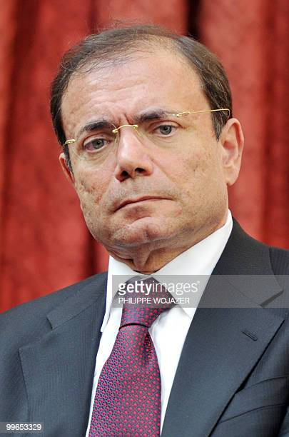 French Casino hypermarket group president JeanCharles Naouri attends a meeting on farming trade at the Elysee Palace in Paris on May 17 2010 French...