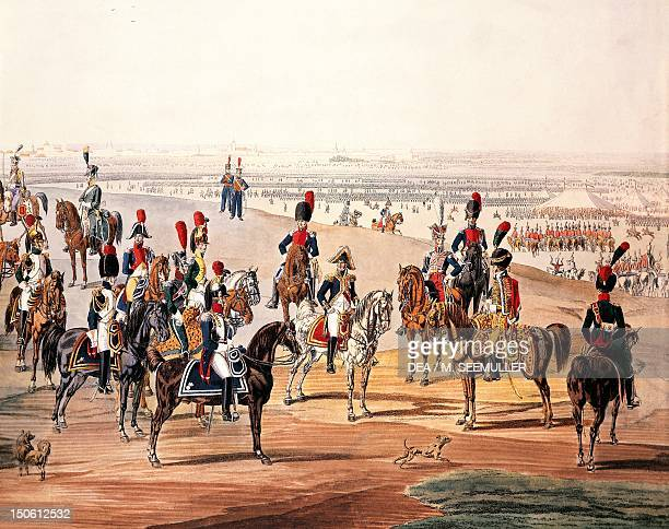 French cavalry during the First Empire by Wilhelm von Kobell watercolour Napoleonic era France 19th century