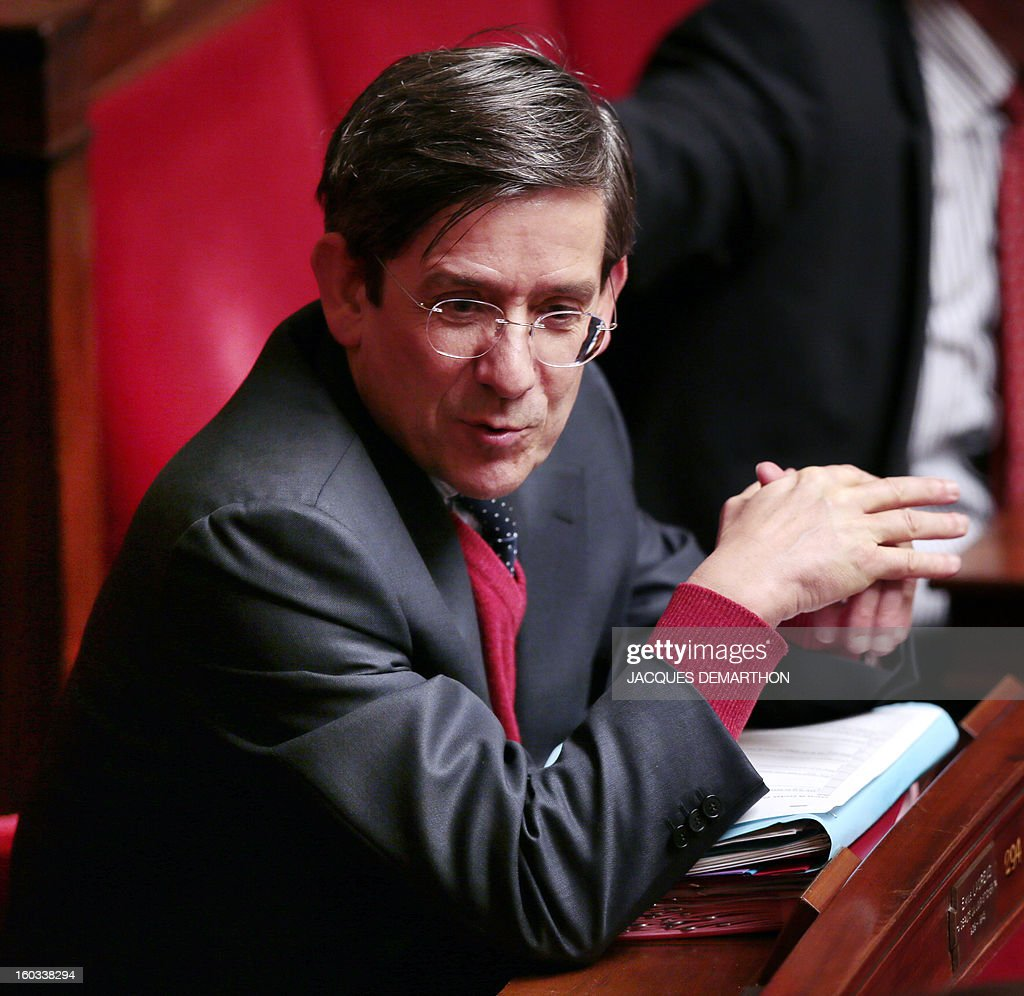French centrist opposition party (UDI) MP Charles de Courson attends a debate on legalising same-sex marriage at the National Assembly on January 29, 2013 in Paris. France's parliament began examining draft legislation on same-sex marriage after months of rancorous debate and huge street protests by both supporters and opponents.