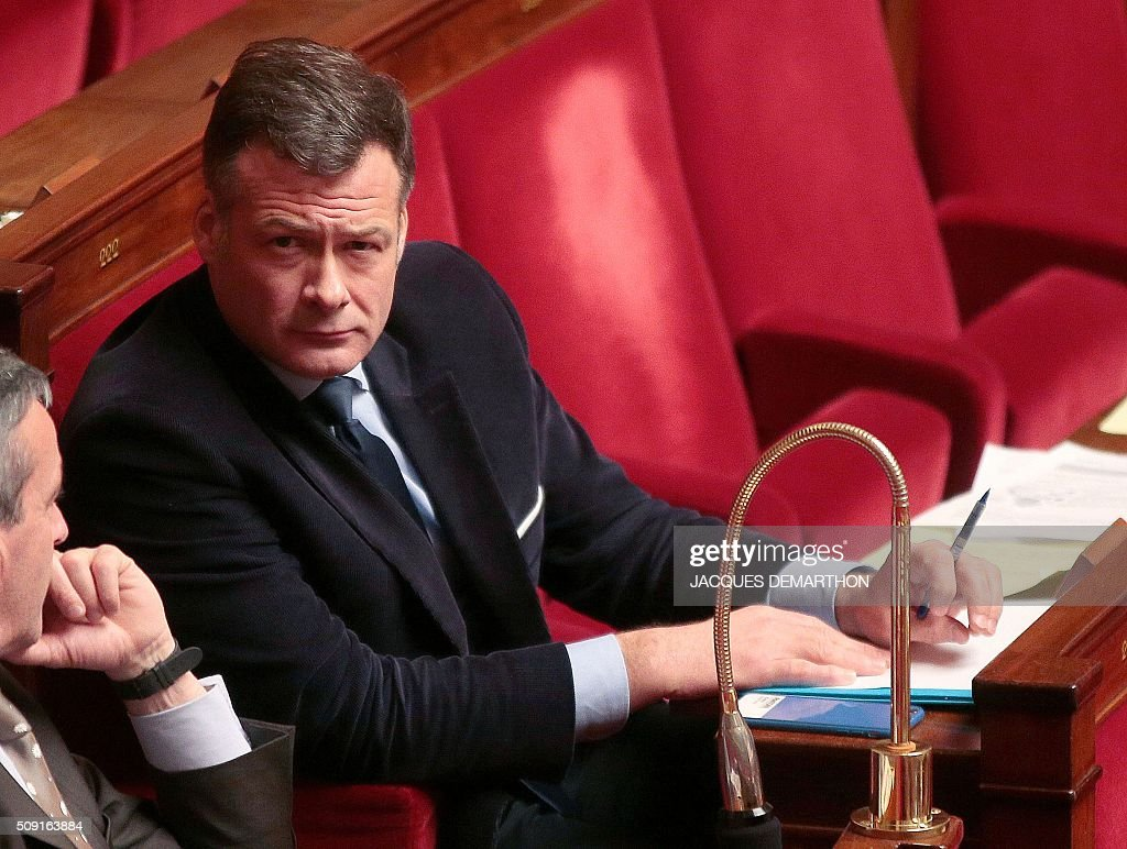 French centrist UDI party MP Arnaud Richard looks on at the French National Assembly in Paris on February 9, 2016, as French lawmakers examined proposed changes to the constitution. France's lower house of parliament is to vote on plans to enshrine a state of emergency into the constitution, including a controversial measure to strip French nationality from those convicted of terrorism and serious crimes. / AFP / JACQUES DEMARTHON