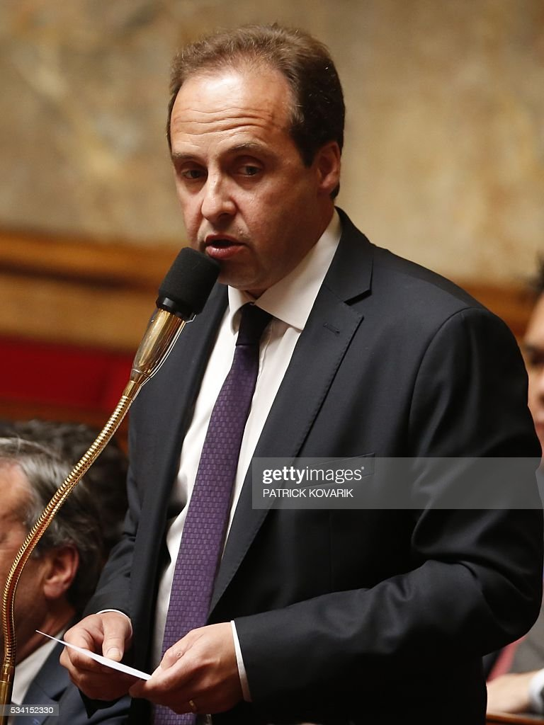 French centrist Union of Independents Democrats (UDI) party president Jean-Christophe Lagarde speaks during a session of Questions to the Government, on May 25, 2016 at the National Assembly in Paris.