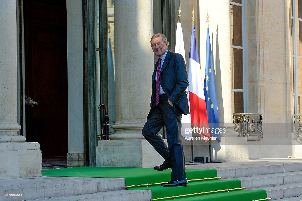 French CEO of Engie, <a gi-track='captionPersonalityLinkClicked' href=/galleries/search?phrase=Gerard+Mestrallet&family=editorial&specificpeople=585719 ng-click='$event.stopPropagation()'>Gerard Mestrallet</a> arrives to the Conference prior the World Climate Summit at Elysee Palace on September 10, 2015 in Paris, France. The COP 21 will be held in Paris From Nov 30 to Dec 11, 2015 and will involve around 40,000 personnes with a representant of every countries to discuss climate changes. This will be the biggest Diplomatic event ever organised by France.
