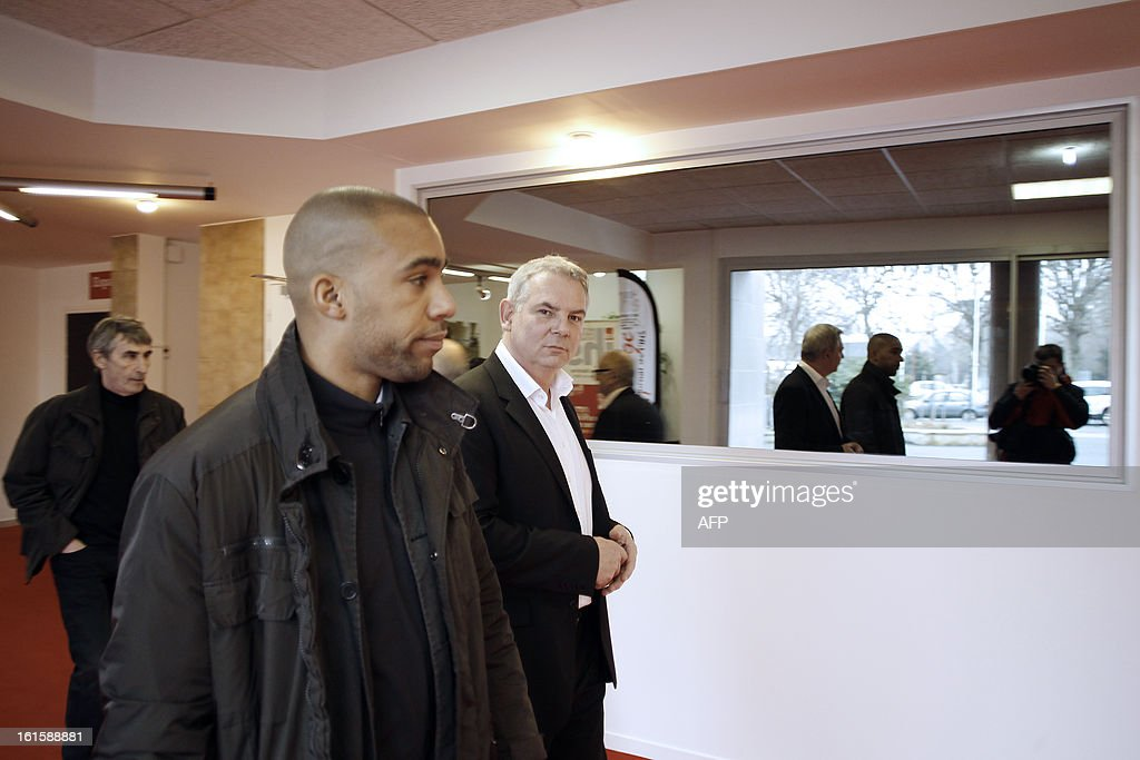 French CGT labour union leader Thierry Lepaon arrives to attend a forum to prepare the 50th CGT's congress, on February 12, 2013 in Caen, northwestern France.