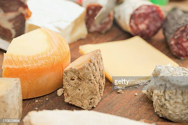 French cheese and sausages