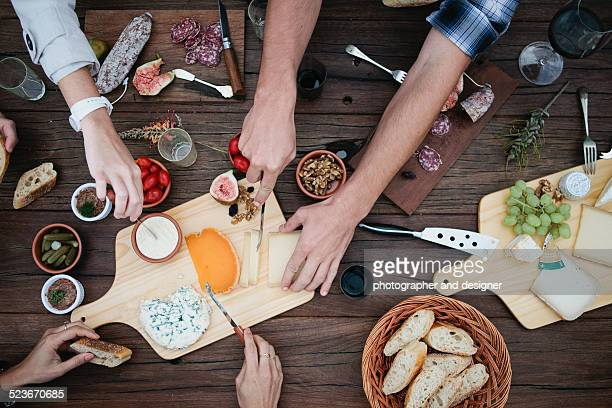 French cheese with friends