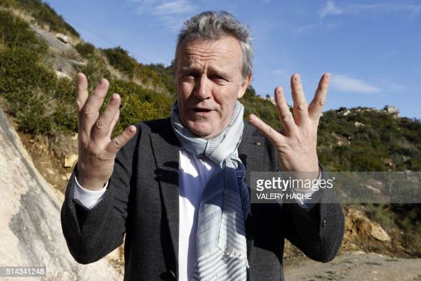 French chef Alain Passard poses in a garden at RoquebruneCapMartin on March 8 before the '4 hands and 4 stars' diner to be served at the 'Monte Carlo...