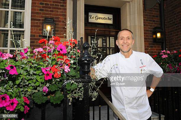 French Chef Michel Roux Jr poses at his restaurant Le Gavroche in Mayfair on June 23 2009 in central London England