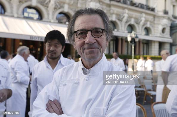 French chef Olivier Roellinger poses among 240 chefs from 25 countries representing five continents and 300 stars ranked in the Michelin gastronomy...