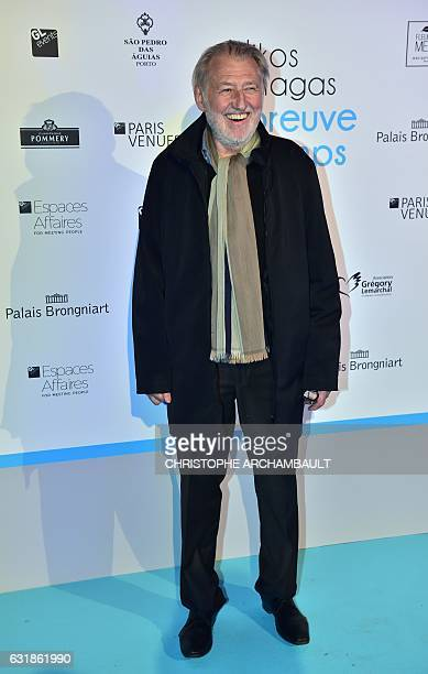 French Chef Pierre Gagnaire poses during a photo call for the opening of a photography exhibition by FrenchGreek TV host Nikos Aliagas on January 16...
