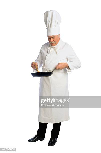 French Chef Preparing a Meal